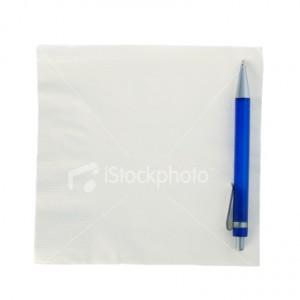fokusas su pieštuku ir nosinaite